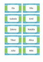 Pohľadnice s menom alebo miestom (dizajn s oblakmi, 10 na stranu)