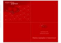 Valentínsky pozdrav (zložený na štvrtinu)