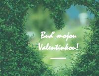 Valentínsky pozdrav (zložený napoly)