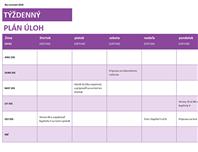 Týždenný zoznam úloh