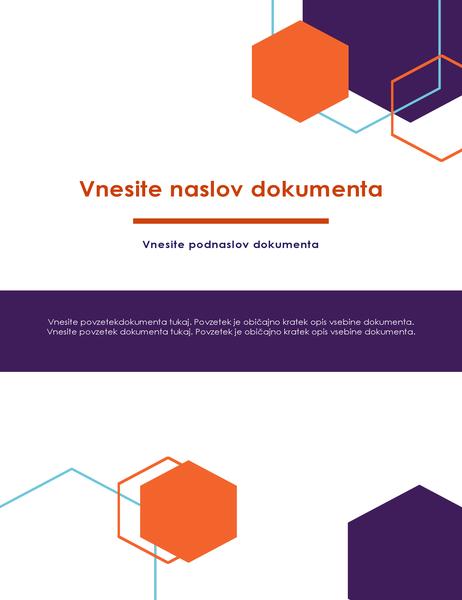Poročilo (oblika »Executive«)