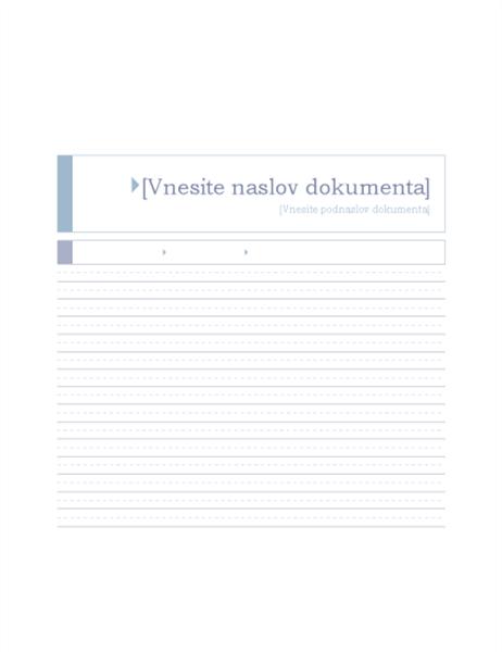 Poročilo (tema »Izvor«)