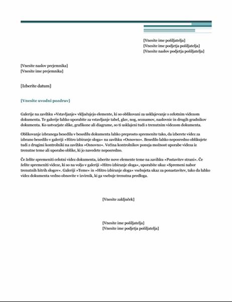 Pismo (tema »Urbano«)