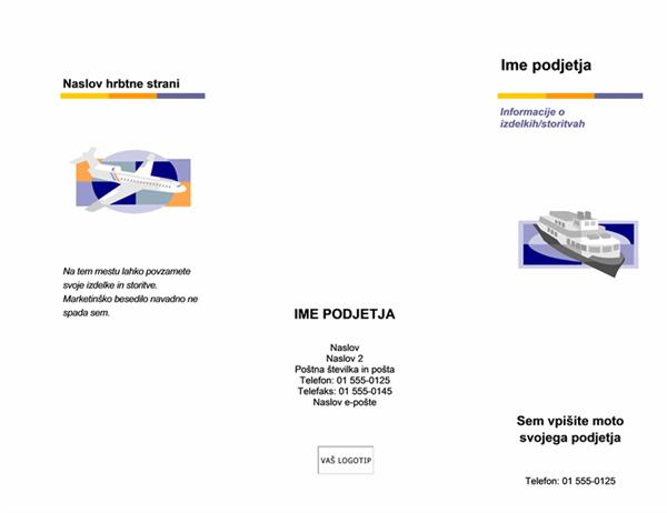 Brošura (več ravni)