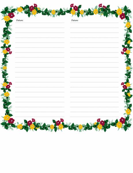 Strani dnevnika (s cvetjem)