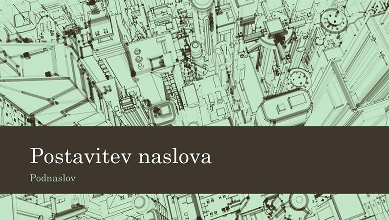 Ozadje poslovne predstavitve z ilustracijo mesta (širokozaslonsko)