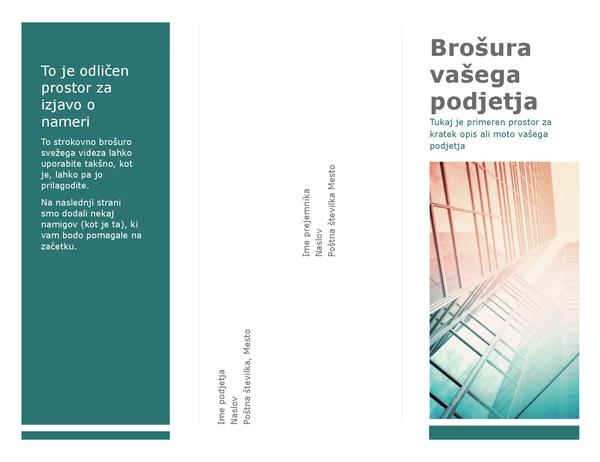 Tridelna brošura (modra)