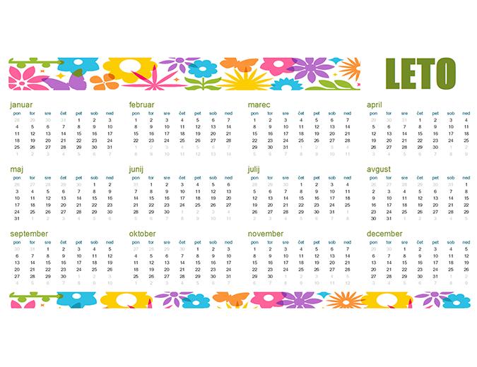 Šaljiv koledar za poljubno leto
