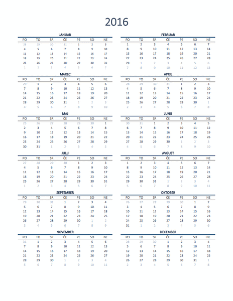Letni koledar