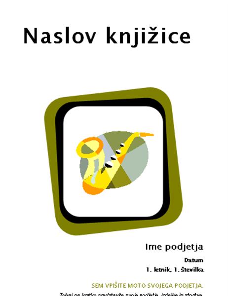 Knjižica izdelkov in storitev (8 1/2 x 11, prepognjena, 8 strani)