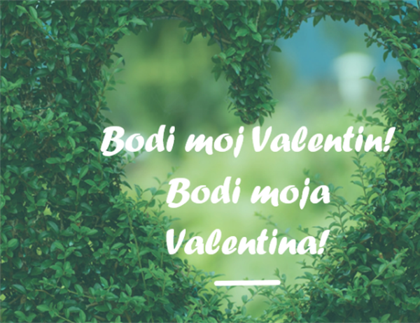 Voščilnica za valentinovo (polovični pregib)