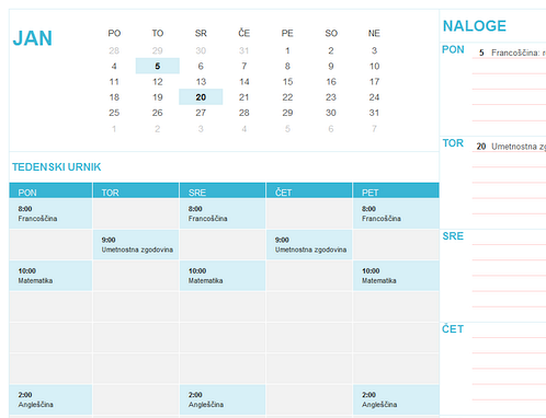 Študentski koledar