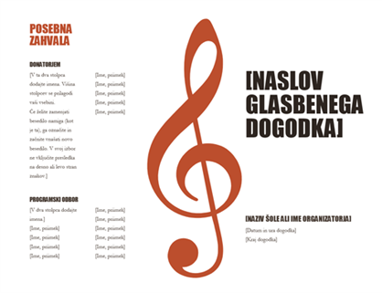 Glasbeni program