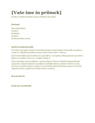 Spremno pismo življenjepisa