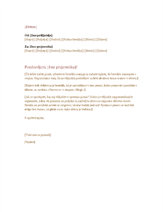 Uradno poslovno pismo