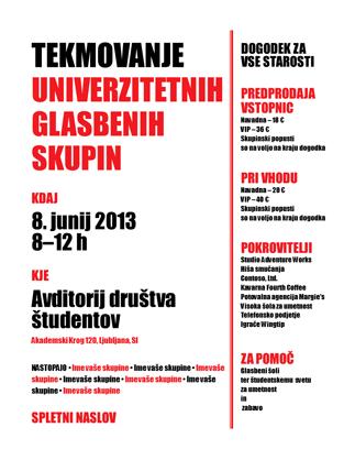Študentski letak (črno-bel)