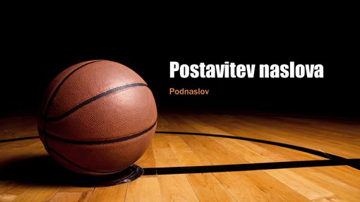 Predstavitev s temo košarke (širokozaslonsko)