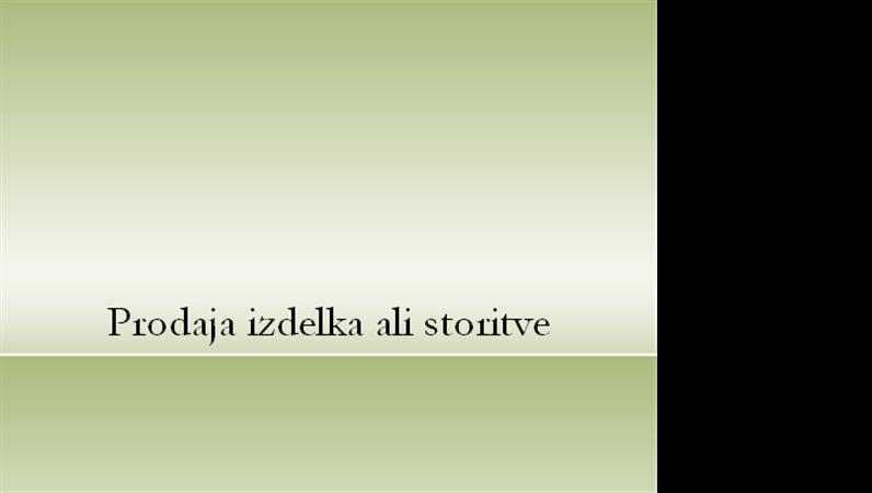 Predstavitev izdelka ali storitve