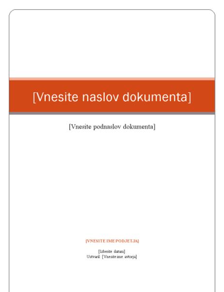 Poročilo (tema »Poslovni izid«)