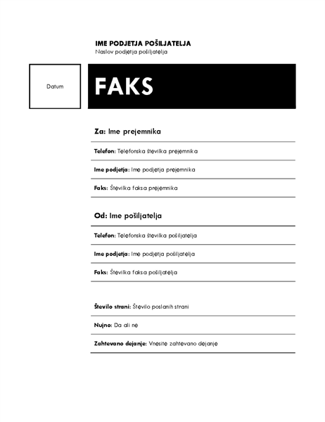 Faks (tema »Sredinsko«)