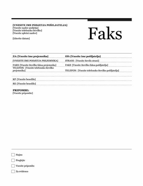 Faks (tema »Urbano«)