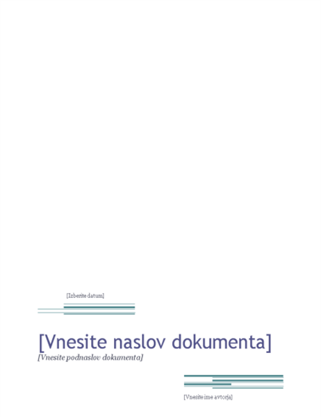 Poročilo (tema »Urbano«)