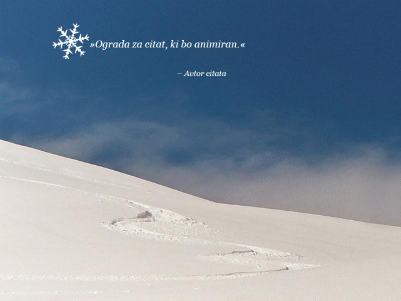 Animirana scena s snegom