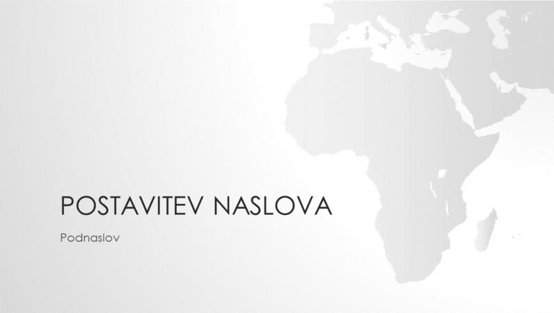 Serija z motivom zemljevidov sveta, predstavitev z motivom afriške celine (širokozaslonska)