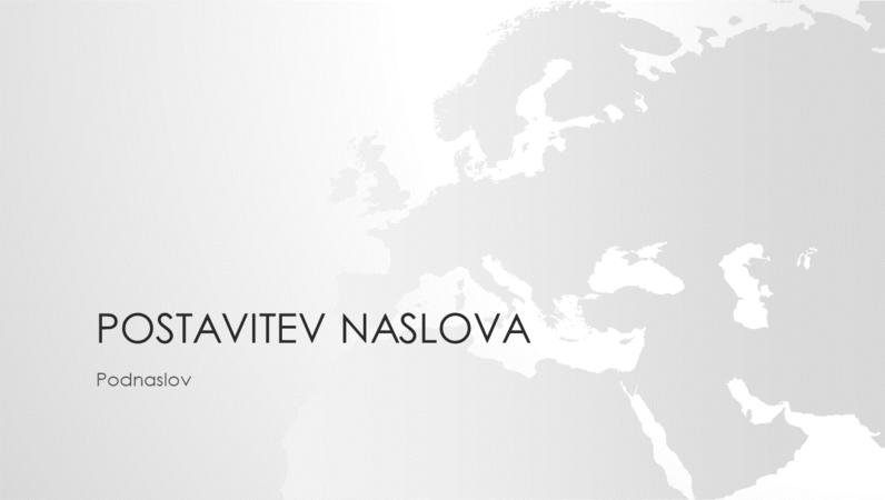 Serija z motivom zemljevidov sveta, predstavitev z motivom evropske celine (širokozaslonska)