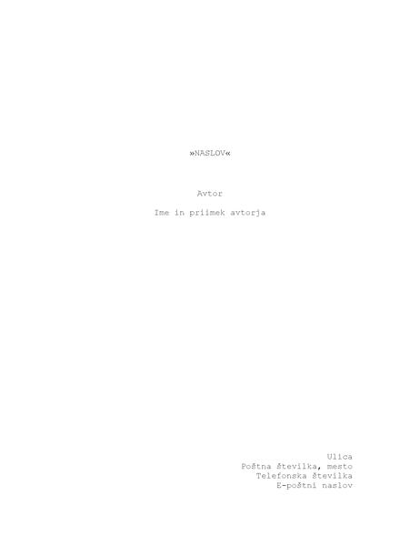 Scenarij