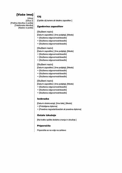 Kronološki življenjepis (navpična tema)