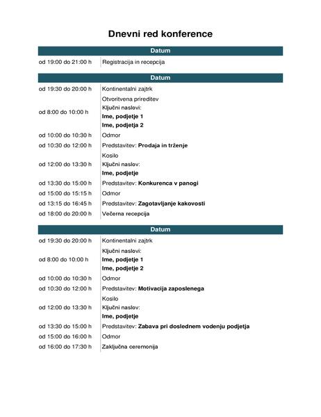 Dnevni red konference