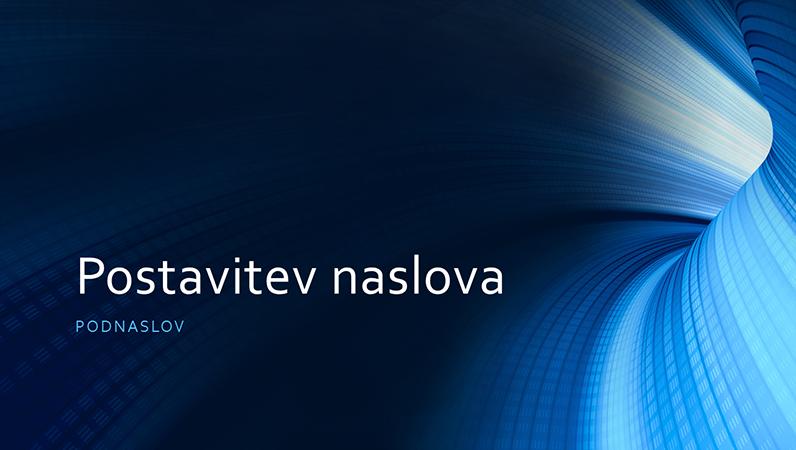 Poslovna predstavitev z digitalnim modrim tunelom (širokozaslonsko)