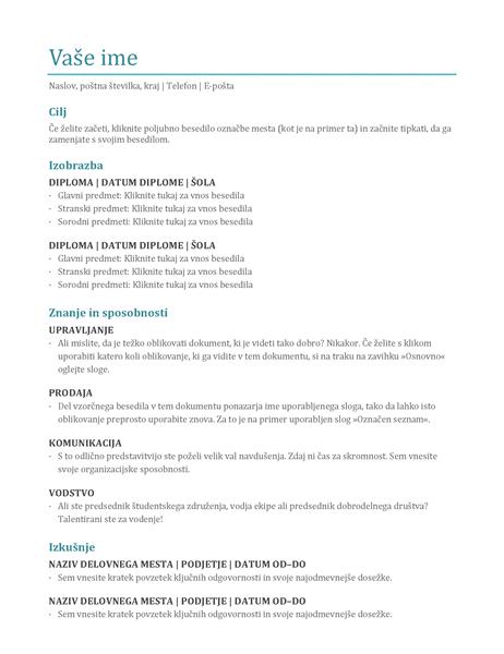 Življenjepis (barvno)
