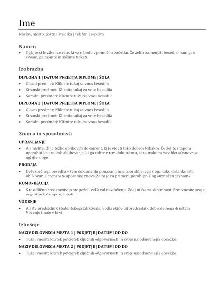 Uporaben življenjepis