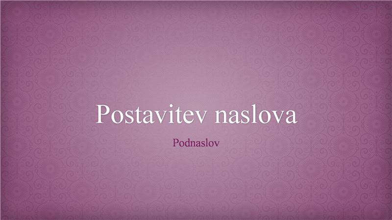 Predstavitev z motivom roza cvetlične brokade (širok zaslon)