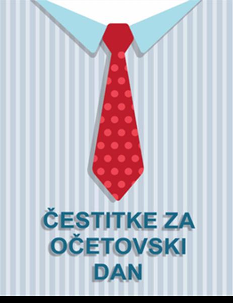 Čestitka za očetovski dan – kravata (četrtinski pregib)
