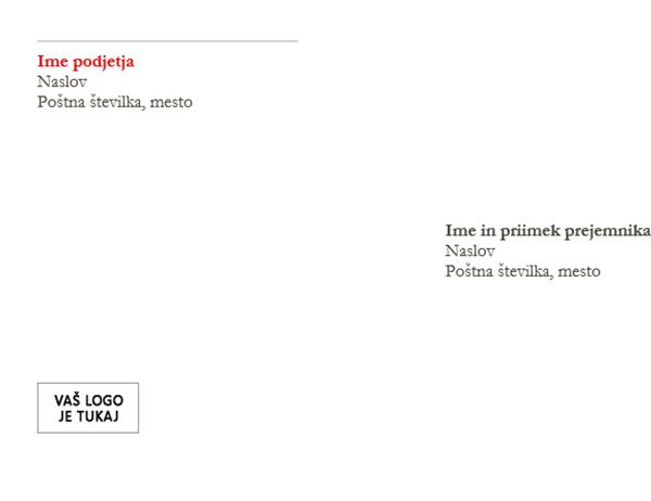 Envelope (dizajn »Rdeče«)