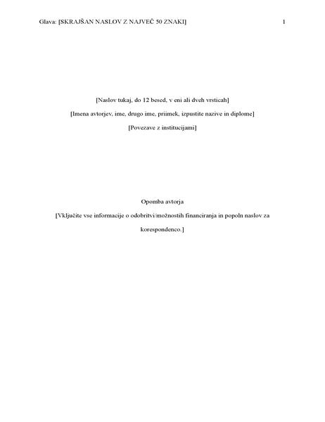 Poročilo sloga APA (6. izdaja)