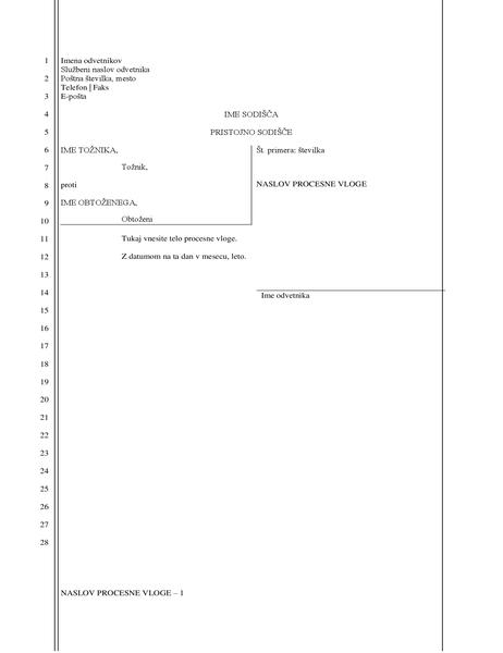 Uradna vloga (28 vrstic)
