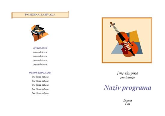 Program glasbenega dogodka