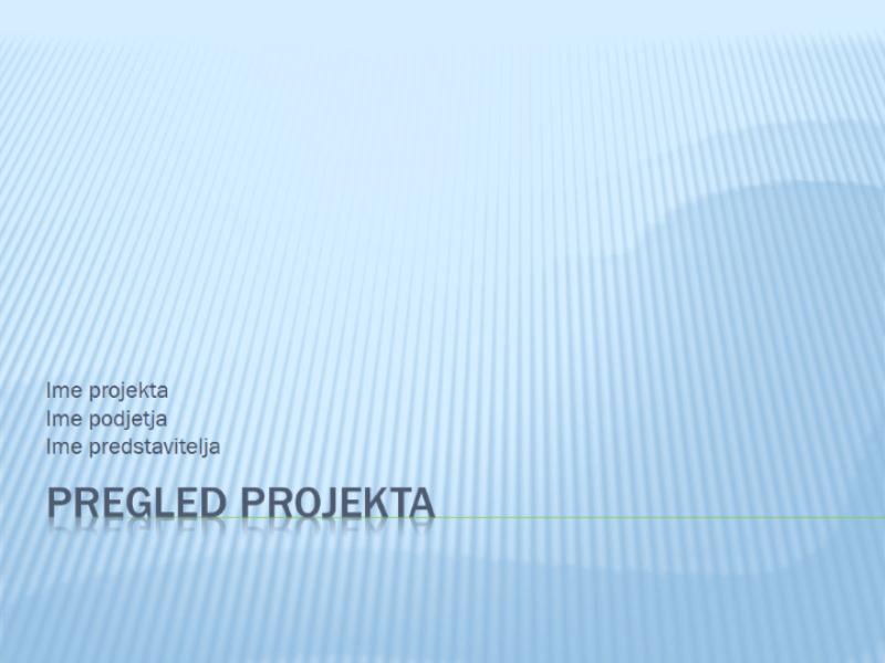 Pregled projekta s predstavitvijo