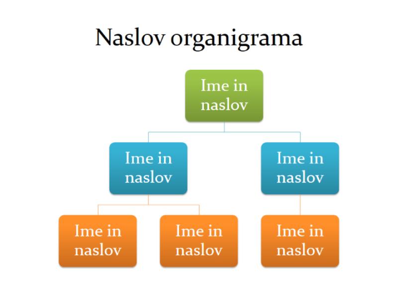 Osnovni organigram