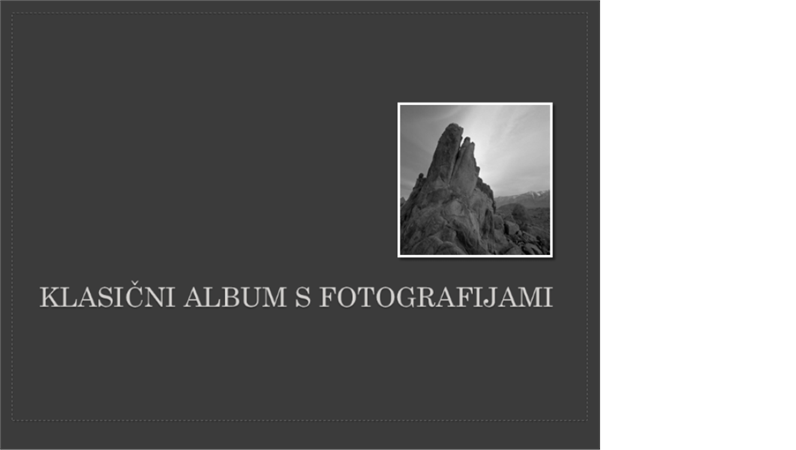 Klasičen album za fotografije