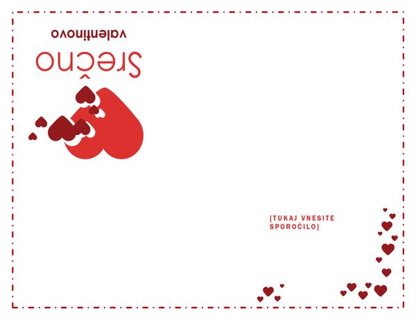 Voščilnica za valentinovo (prazna)