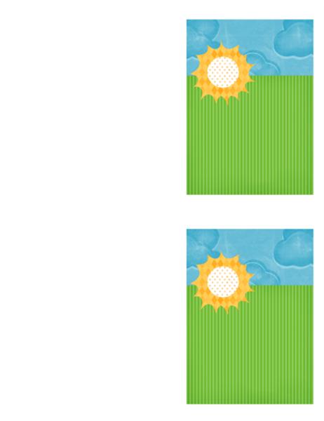 Kartica za zahvalo (načrt z oblački)