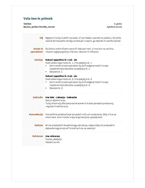 Funkcionalen življenjepis