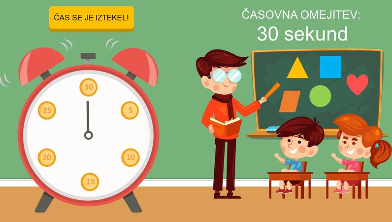 Štoparice za učilnico (ura)