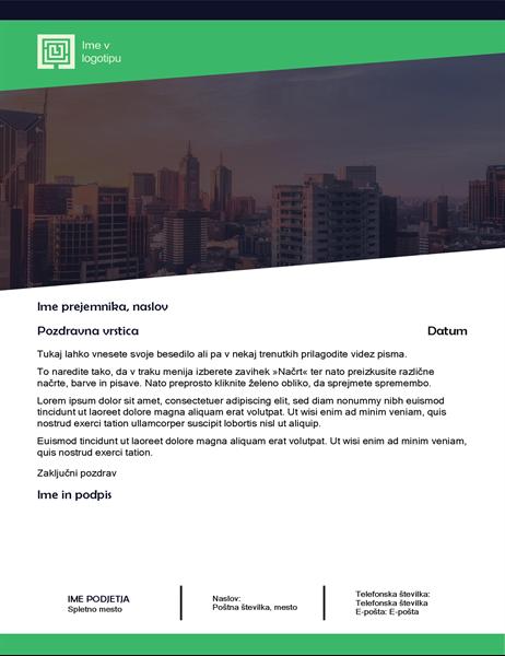 Poslovno pismo (oblika »Zeleni gozd«)