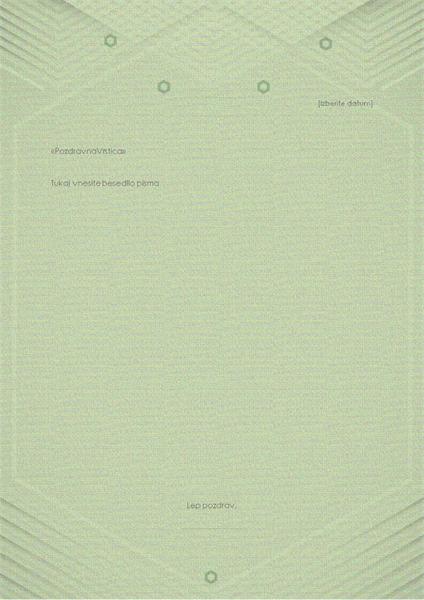 Predloga za osebna pisma (eleganten sivozelen dizajn)